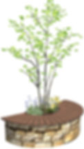 サークルベンチのCGイメージ