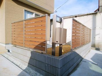 太白区外構工事|お庭の目隠しフェンス工事・2