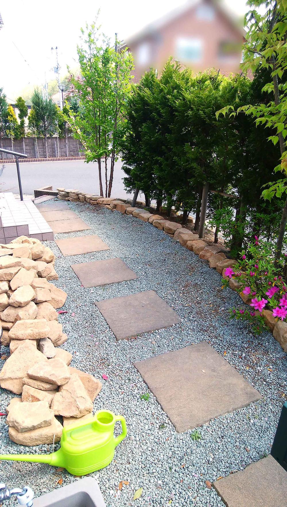 最上石の植栽スペース