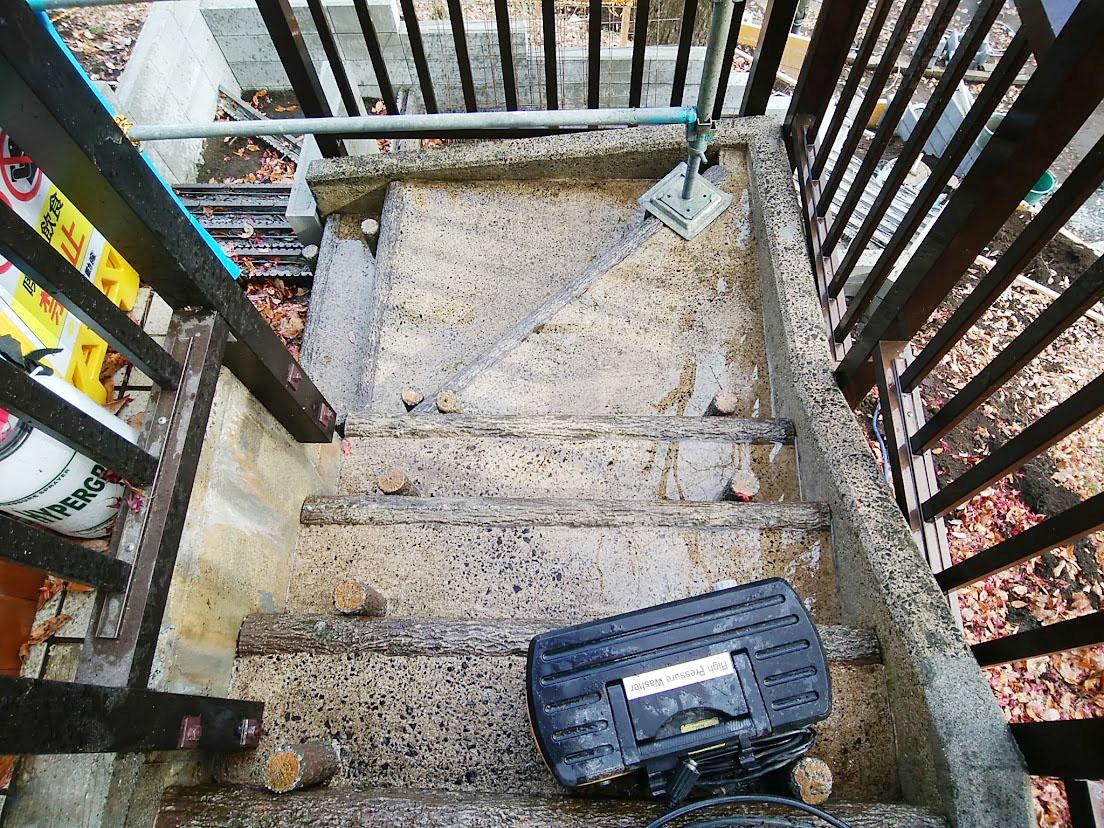 階段の洗浄