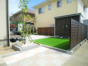 Case62:バスケやブランコをして楽しめるお庭のリフォーム