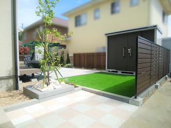 村田町外構工事|バスケやブランコをして楽しめるお庭のリフォーム・8