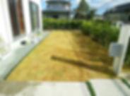 芝生(姫高麗芝)のお庭