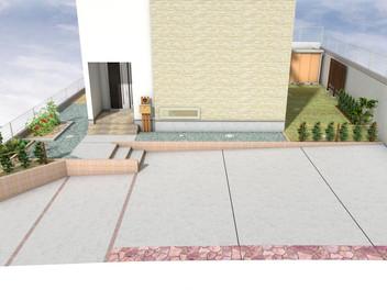 青葉区・駐車場の拡張とお庭のリフォーム