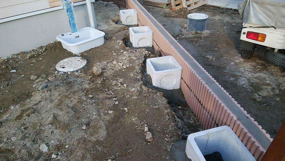 フェンス基礎工事3