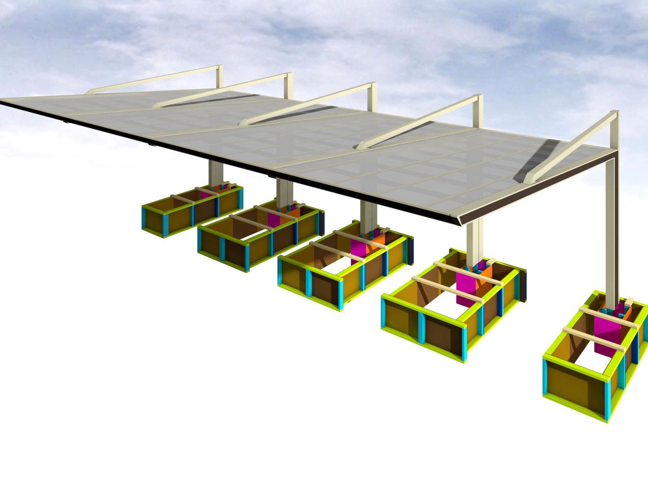 カーポート型枠イメージ2