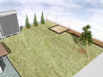 名取市外構工事|広いお庭で楽しんで・遊んで・寛げる空間・1