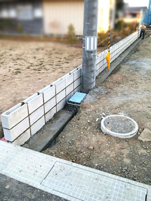 コンクリートブロック3段積