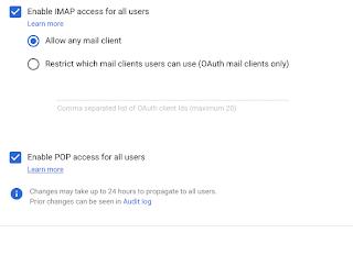 Controles de administração aprimorados para Gmail IMAP