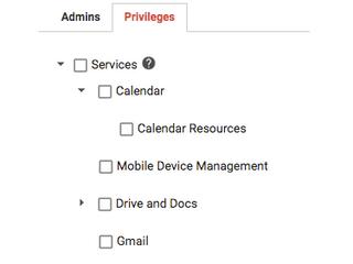 Novos privilégios de administrador do Calendário disponíveis no Admin Console