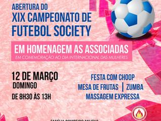 Homenagem às Associadas e Abertura do XIX Campeonato de Futebol Society