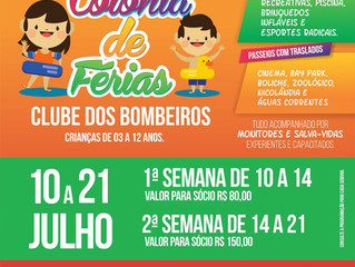 COLÔNIA DE FÉRIAS - CLUBE DOS BOMBEIROS