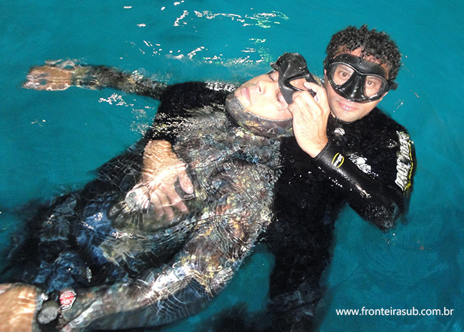 Acidentes com mergulhadores - Curso de Primeiros Socorros - Fronteira Sub