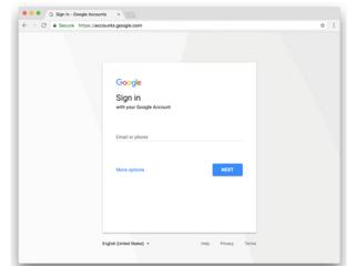 Atualização: Atualizando a página de login das Contas do Google