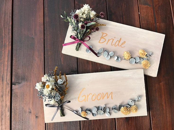 groom & bride sign without name