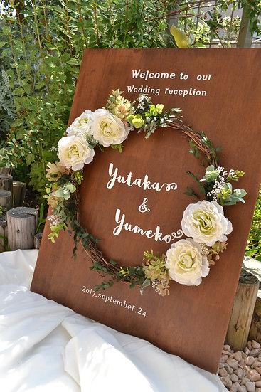 flower wreath welcomeB・A2/A3