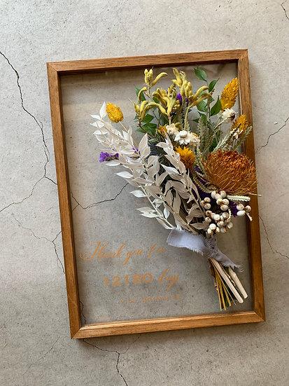 thank youB・A4(オレンジ+白)
