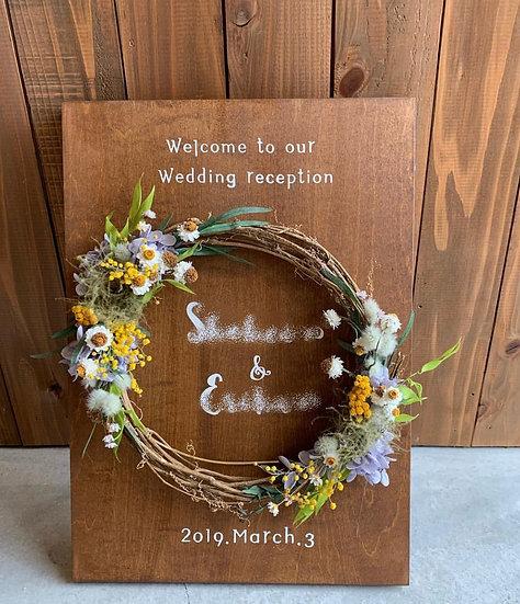 flower wreath welcomeB・A3