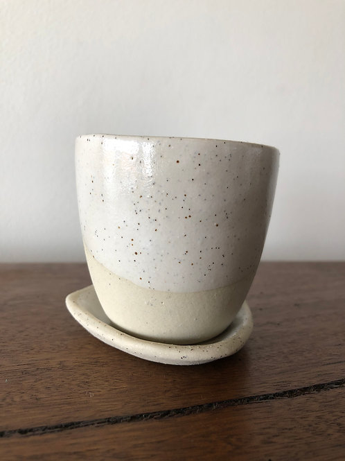 Kim Wallace Espresso Cup and Plate