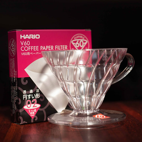 Hario V60 Dripper Size 03 + 40pk Filter Papers