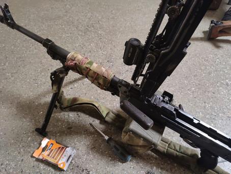 Наши чехлы в работе на пулемете!