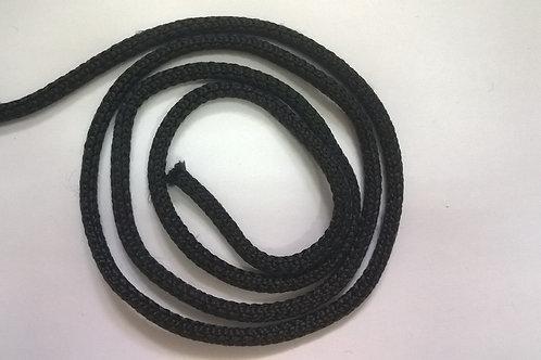 Текстильный шнур плетеный цв. Черный эластичный диаметр 4.5мм производство Китай