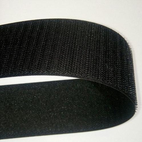 Липучка Велкро, 50 мм. чёрная, крючок (Нидерланды)