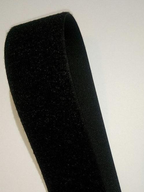 Липучка Велкро, 50 мм. чёрная, петля (Нидерланды)