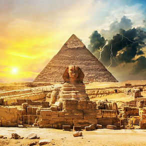 Why did the Egyptian build pyramids?