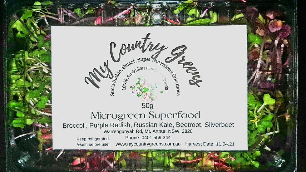 50g Punnet of fresh cut MicroGreen Superfood Salad Mix