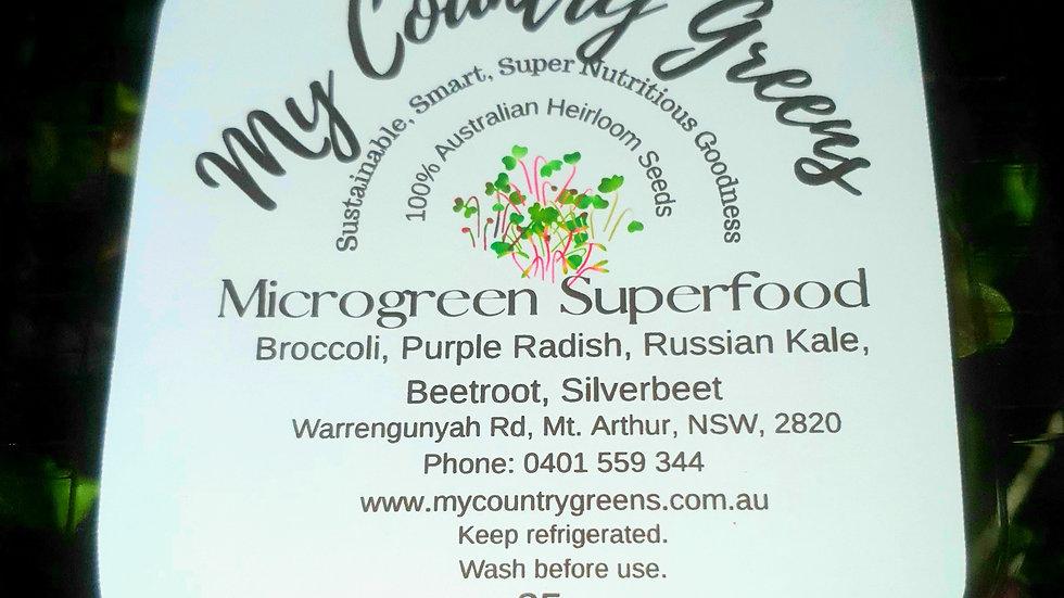 25g Punnet of fresh cut Microgreen Superfood Salad Mix