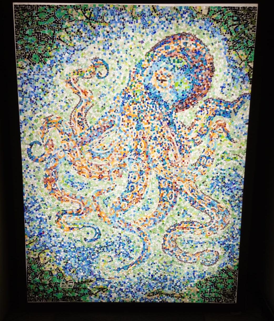 Le Poulpe, mosaïque rétroéclairée