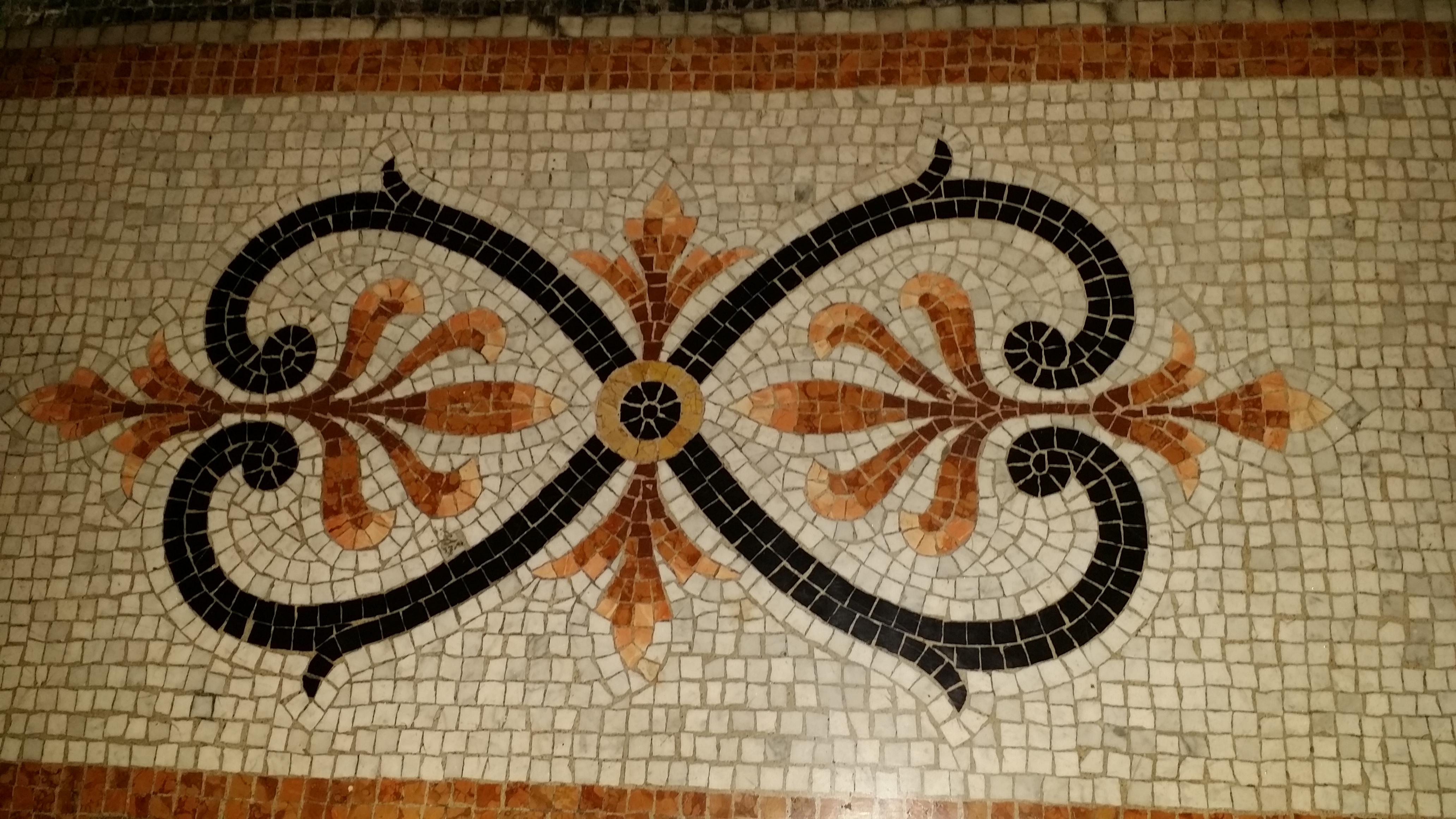 Mosaique de marbre