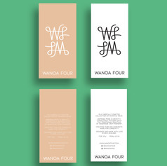 Swing tag design for Wanoa Four