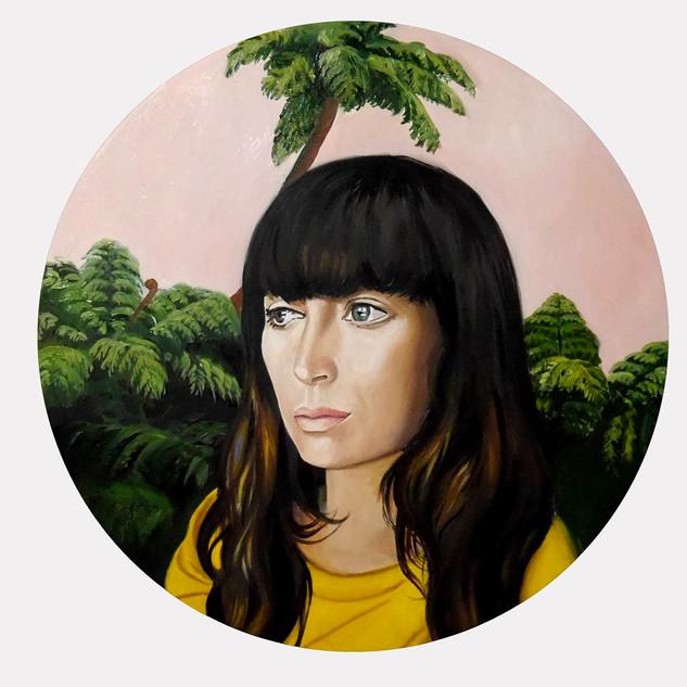 Self portrait, Wellington, NZ. Oil on bo
