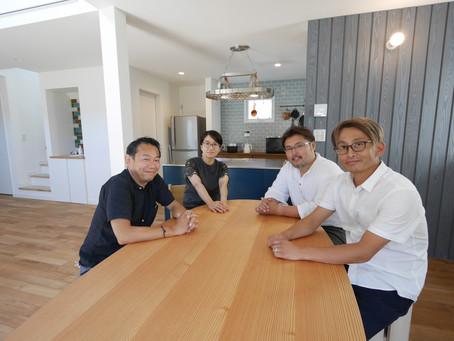竣工祝いも兼ねて、新しい暮らしとKIBARIの家の感想をお伺いしました
