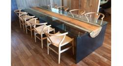 家具 01 ブルーステインテーブル