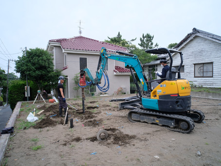 CSH19 鵠沼tricoloreHaus 地盤補強工事