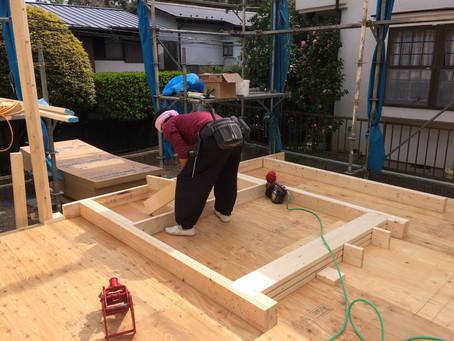 静なる家 木工事が始まりました!