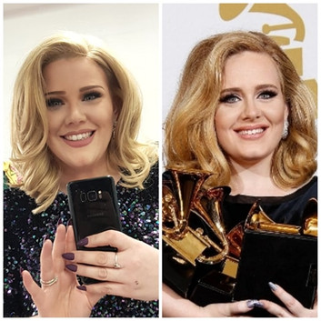 Adele tribute Comparison