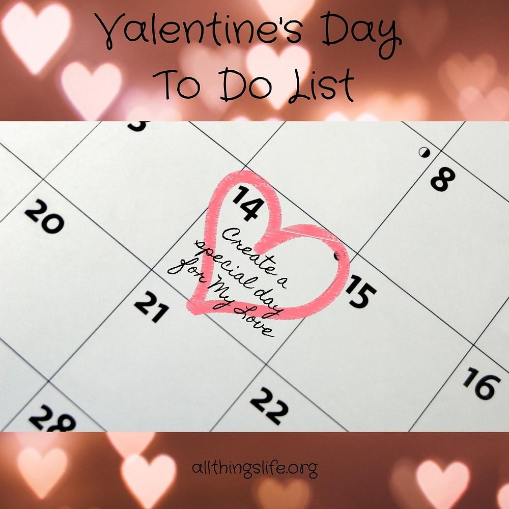 Valentine's Day To Do List