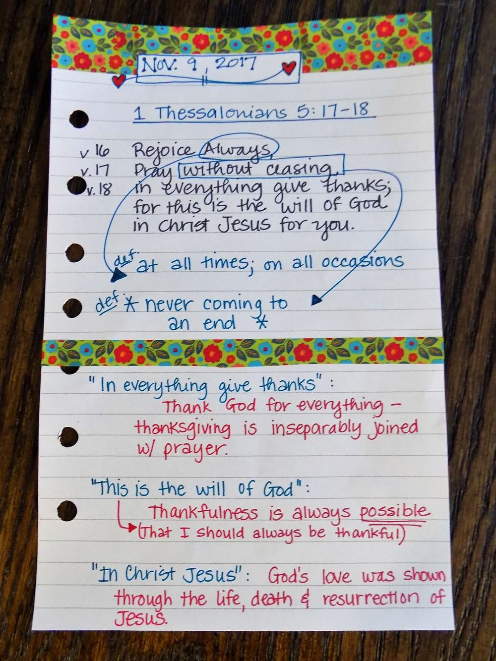 1 Thessalonians 5:16-18 / Scripture Study