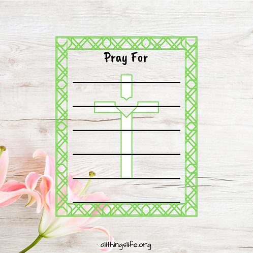"""Pray For"" Stickers with Crosses- 2 Full Pages"