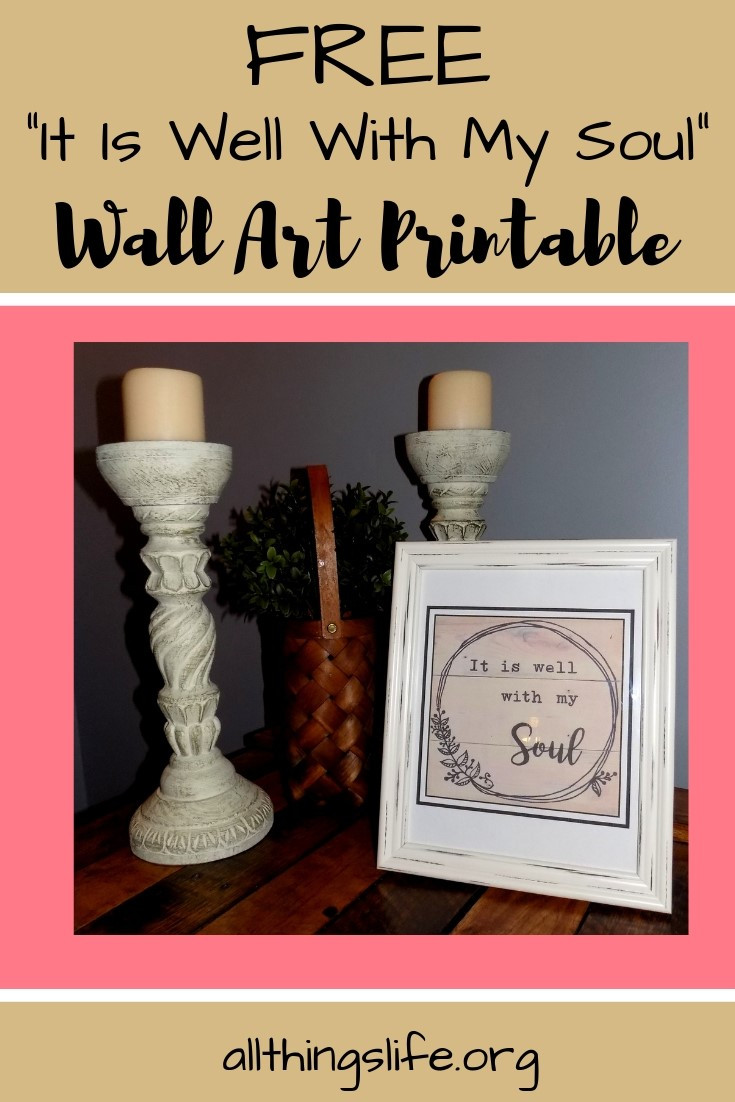 It is well with my soul wall art