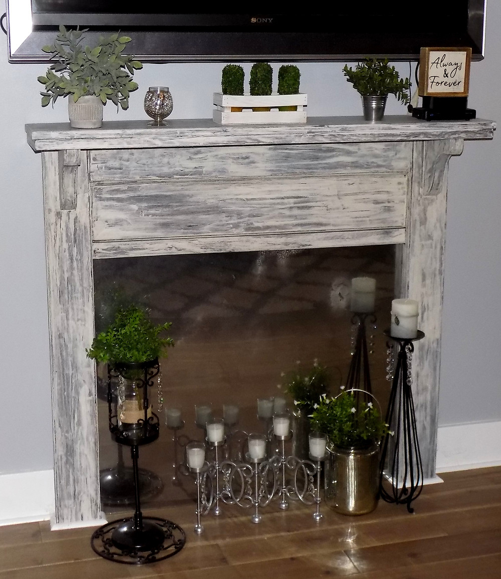 Upcycled Fireplace Mantle