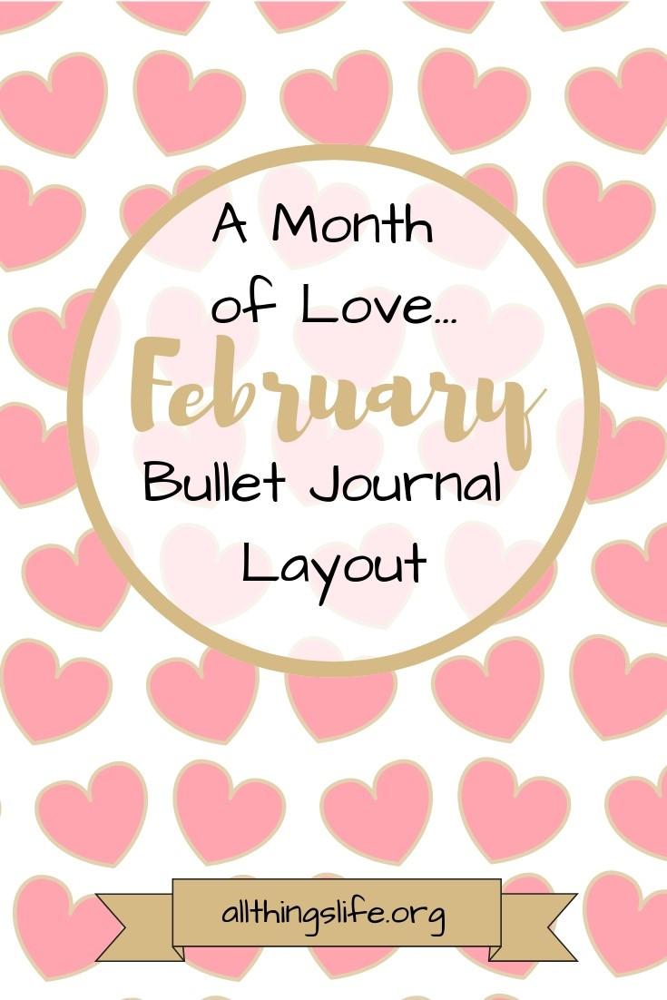 February Bullet Journal Layout