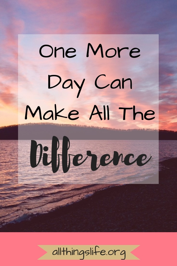 One More Day can make all the difference