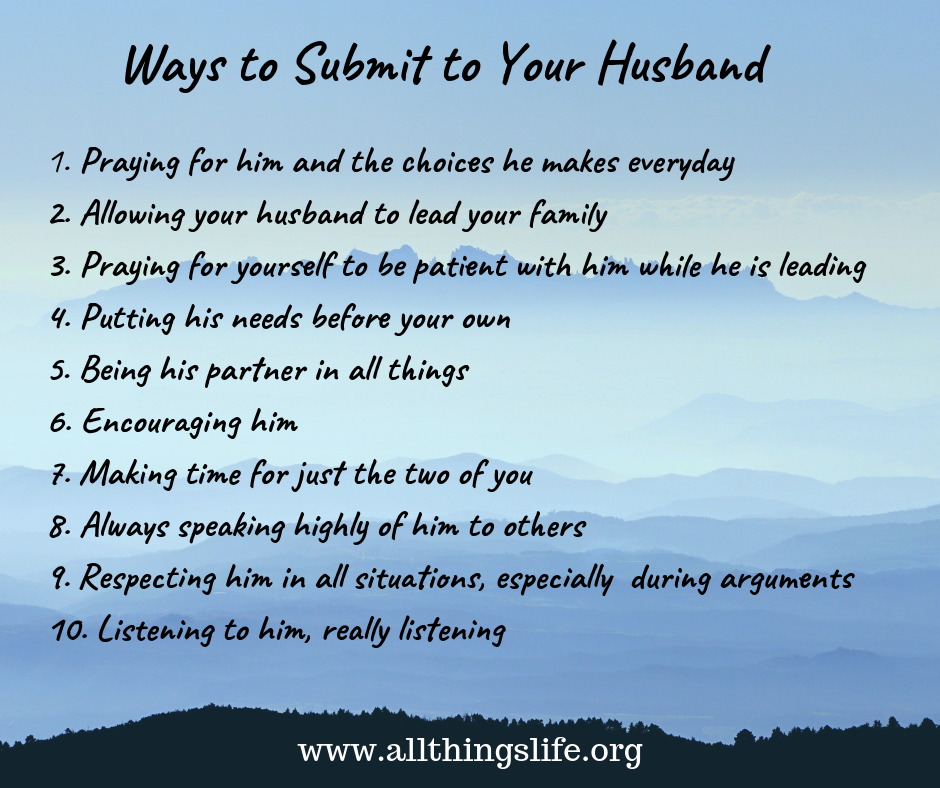 Ways to Submit to Your Husband