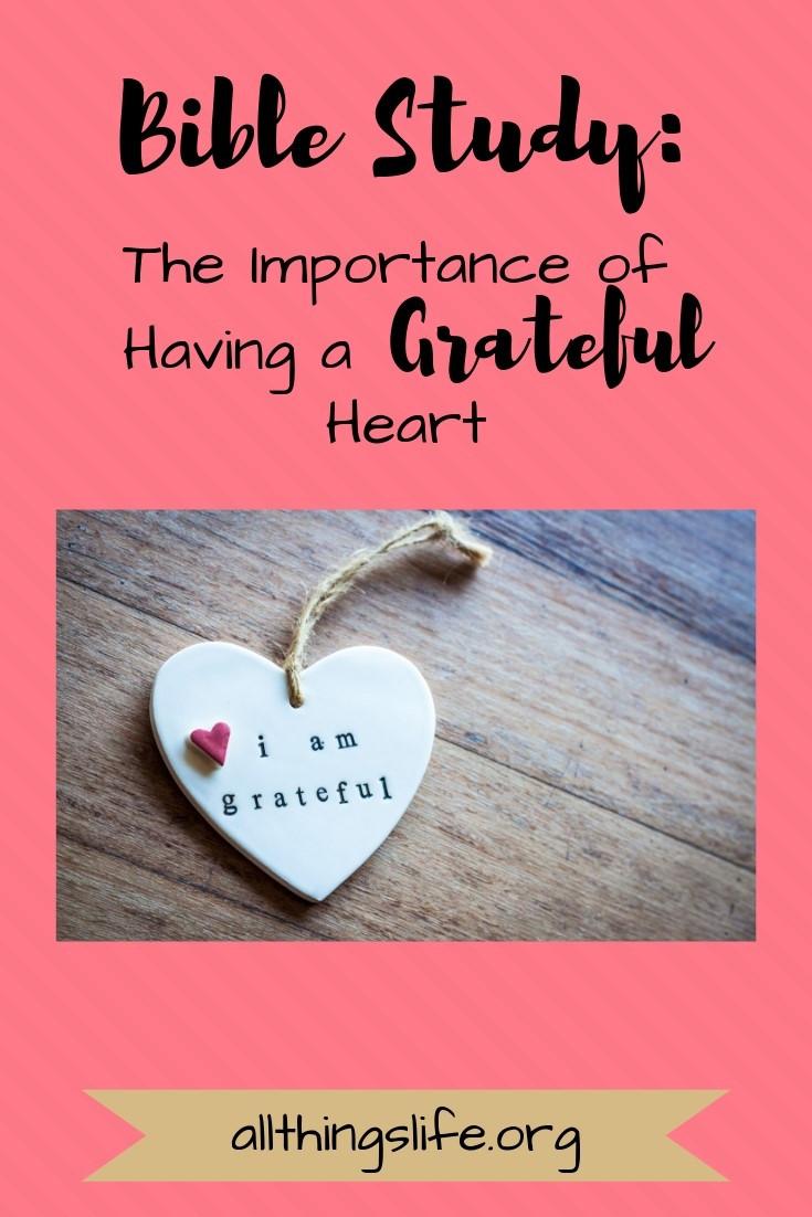 A grateful heart bible study
