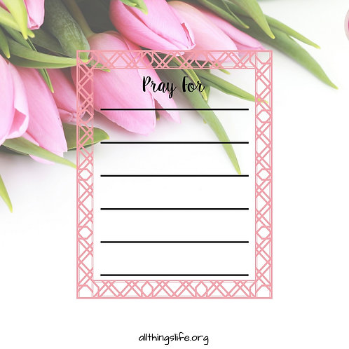 """""""Pray For"""" Stickers - 2 Full Pages"""